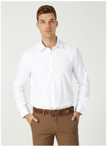 Fabrika Comfort Fabrika Comfort Gömlek Yaka Baklava Desen Beyaz Gömlek Beyaz